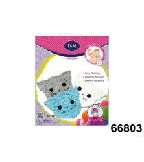 Набор для творчества вяжем крючком котята Делай с мамой 66803