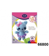 Набор для творчества вяжем игрушку кошка милашка Делай с мамой 66800