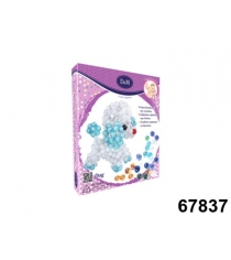 Набор для творчества создаем игрушку из бусин пудель Делай с мамой 67837