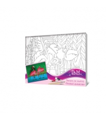 Роспись по холсту розовый фламинго 25 на 35 см Делай с мамой 34447...
