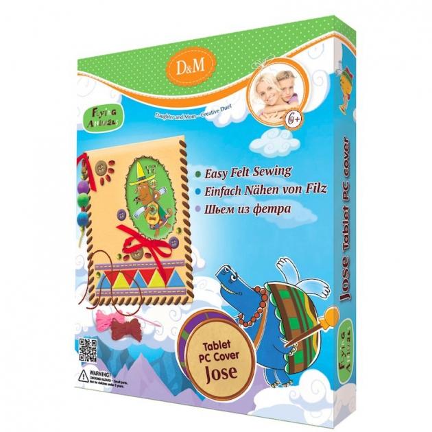 Набор для шитья чехла для планшета летающие звери наосе Делай с мамой 57037