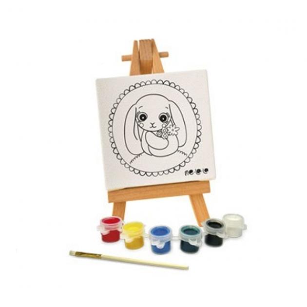 Набор для росписи по холсту зайка 11 x 11 см Делай с мамой 57517