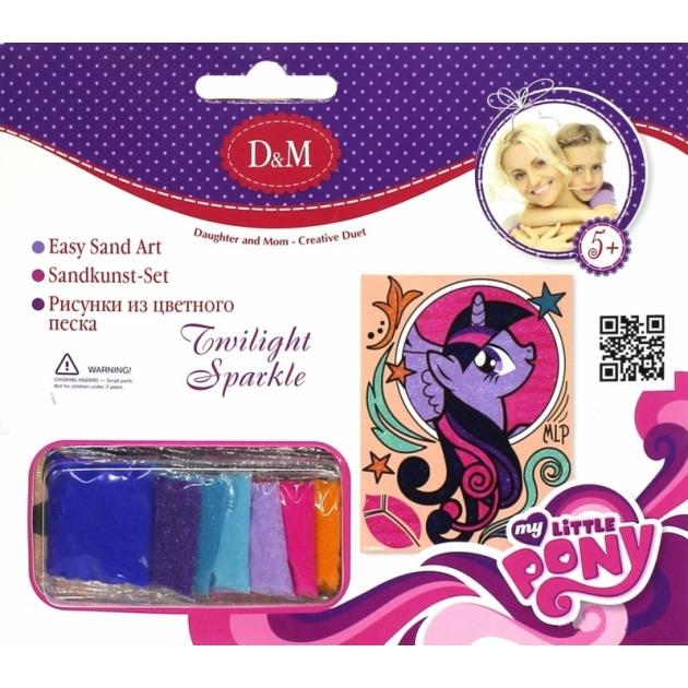 Картинка из цветного песка my little pony сумеречная искорка Делай с мамой 57930