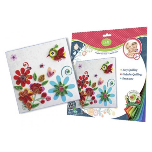 Набор для квиллинга цветы и птицы Делай с мамой 58022