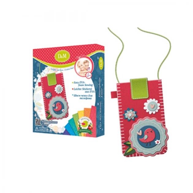 Набор для шитья чехла для телефона цветы и птицы Делай с мамой 60752