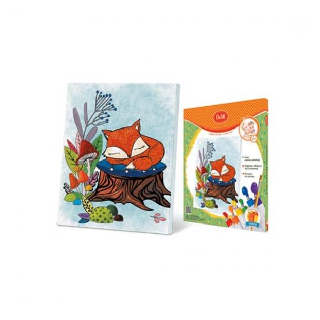 Набор для росписи по холсту лисенок 25 x 30 см Делай с мамой 60756