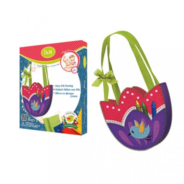 Набор для создания сумки из фетра цветы и птицы Делай с мамой 60760