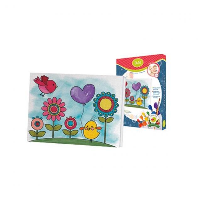 Набор для росписи по холсту цветы и птички 18 x 24 см Делай с мамой 60762