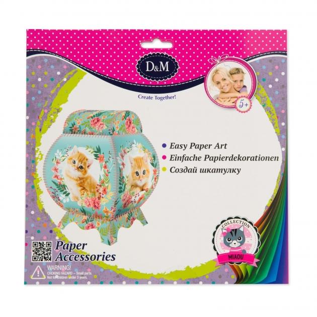Набор для создания шкатулки из открыток котенок Делай с мамой 65739