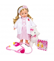 Кукла bambolina доктор молли с собачкой 40 см Dimian BD1384RU-M37