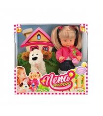 Функциональная кукла bambolina нена с собачкой 36 см Dimian BD385