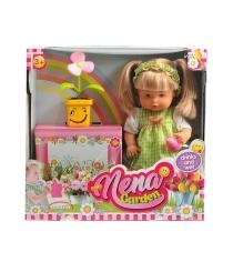 Кукла baby nena нена с цветком пьет писает 38 см Dimian BD386