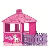 Домик для девочек Dolu Unicorn с забором 2511