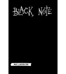 Black note креативный блокнот с черными страницами мягкая обложка