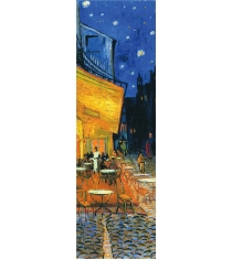 Закладка с резинкой ван гог ночная терраса кафе арте