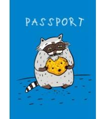 Енот и любимая печенька обложка на паспорт