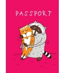 Енот и обнимашки обложка на паспорт