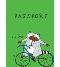 Енот на колесах обложка на паспорт