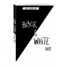Black&white note стильный блокнот с черными и белоснежными страницами мягкая обложка