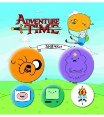Набор значков adventure time вселенная друзей 5 шт