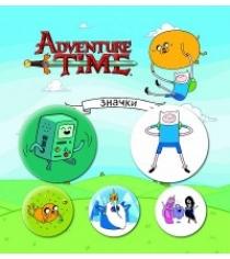 Набор значков adventure time сумасшедшая вселенная 5 шт