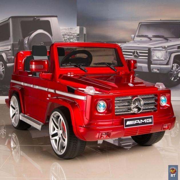 Электромобиль mercedes benz amg new version 12v r c red с резиновыми колесами 5036