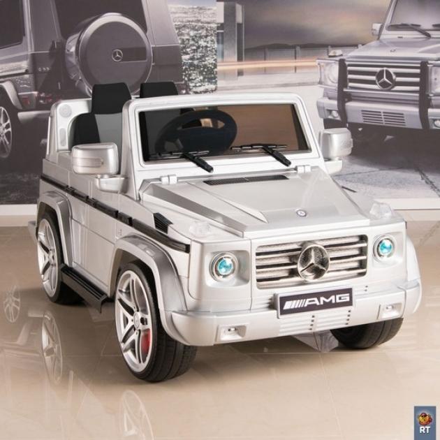 Электромобиль mercedes benz amg new version 12v r c silver с резиновыми колесами 5037