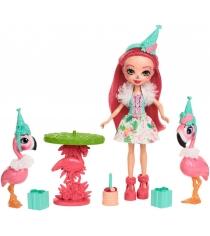 Кукла Enchantimals Сказки на ночь Фэнси праздник фламинго FCG79