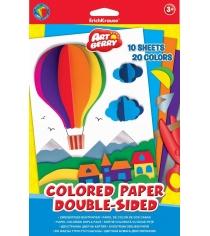 Двусторонняя цветная бумага в5 artberry 10 листов 20 цветов Erich Krause 37206AB