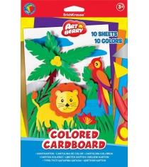 Цветной мелованный картон artberry формат в5 10 листов Erich Krause 37211