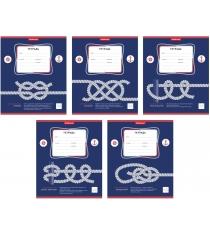 Тетрадь в линейку морские узлы 12 листов Erich Krause 42550