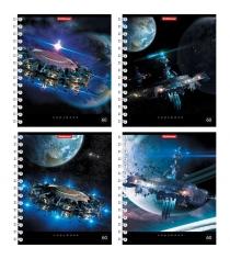 Тетрадь в клетку орбитальные станции 60 листов Erich Krause 42684
