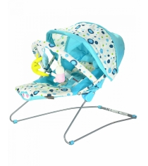 Стульчик шезлонг Everflo Baby bouncer BeabyBus UC42 blue