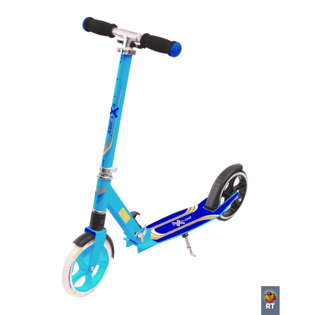 Самокат детский 2х колесный Explore target голубой 3406