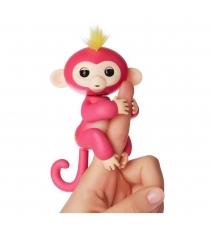 Fingerlings Ручная обезьянка Белла розовая 12 см 3705A интерактивная игрушка робот WowWee