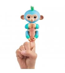 Fingerlings Обезьянка Чарли голубая с зеленым 12 см 3723 WowWee