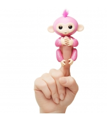 Fingerlings Обезьянка Роза розовая 12 см 3764 WowWee