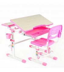 Комплект парта и стул FunDesk Lavoro белый розовый
