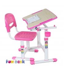 Парта для малышей и стул FunDesk Piccolino II белый розовый