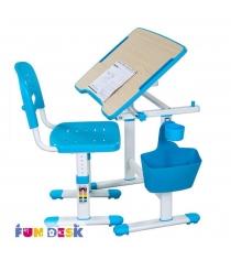 Парта для малышей и стул FunDesk Piccolino II белый голубой