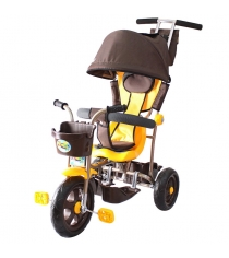 Трехколесный велосипед Galaxy Лучик-1 коричнево желтый 5391...