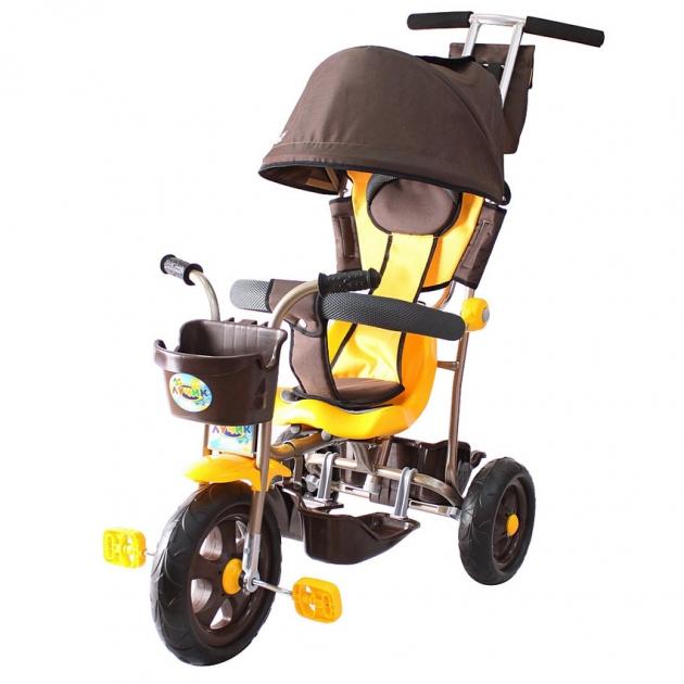 Трехколесный велосипед Galaxy Лучик-1 коричнево желтый 5391