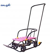 Снегомобиль snow Galaxy black auto розовые рейки 6084