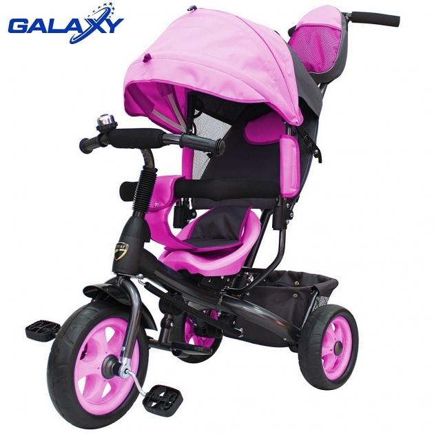 Велосипед 3х колесный Galaxy лучик vivat розовый 6576
