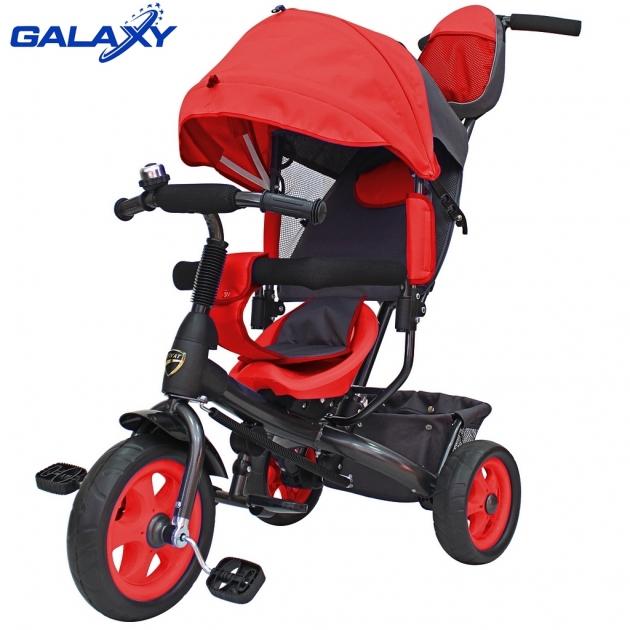Велосипед 3х колесный Galaxy лучик vivat красный 6578