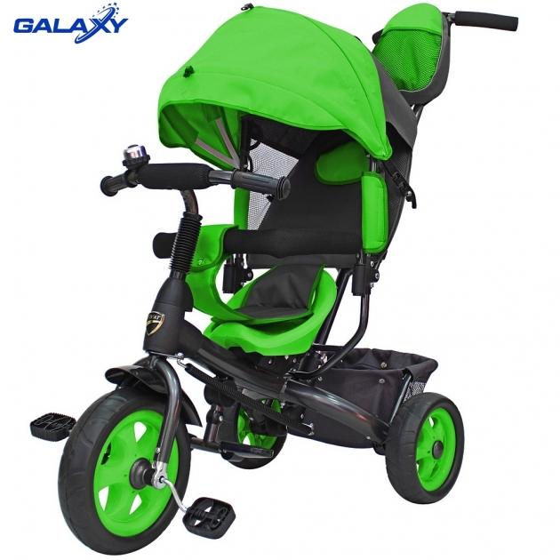 Велосипед 3х колесный Galaxy лучик vivat зеленый 6579