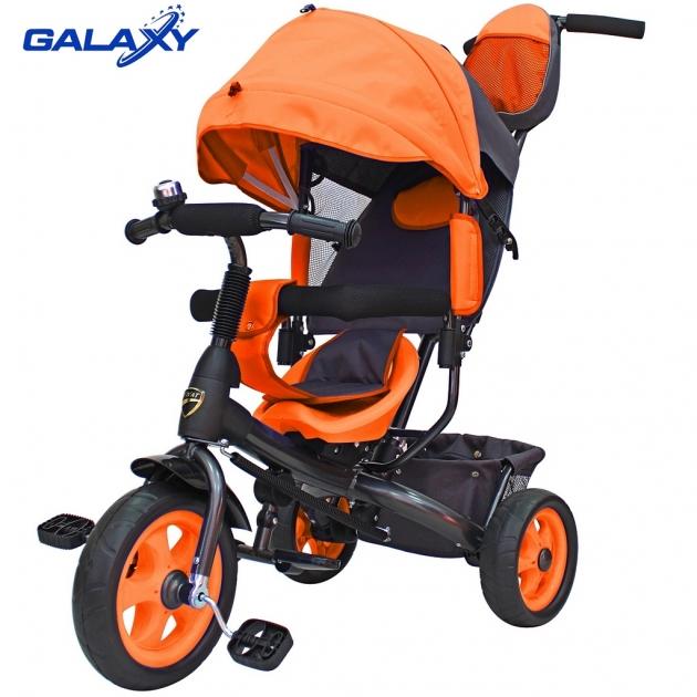 Велосипед 3х колесный Galaxy лучик vivat оранжевый 6580
