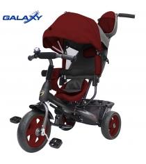Велосипед 3х колесный Galaxy лучик vivat бордовый 6581...