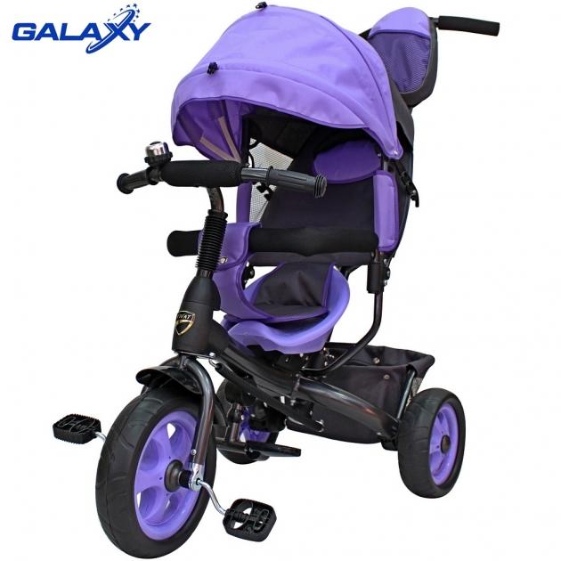 Велосипед 3х колесный Galaxy лучик vivat фиолетовый 6582