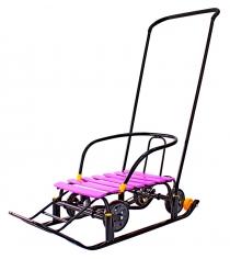 Снегомобиль Galaxy Snow Black Auto розовый